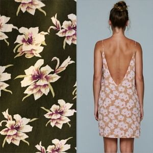 New acacia Flores capsule aloha mini dress brown P